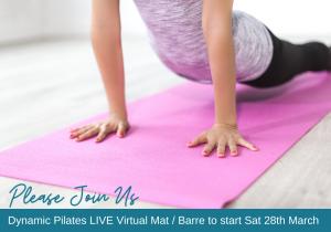 Dynamic Pilates Covid-19 Live Virtual Class Billboard